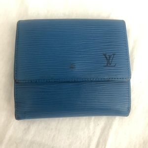 Louis Vuitton Epi Leather Blue Wallet